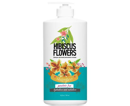 Шампунь цветочный PROTOKERATIN увлажнение и питание цветы гибискуса, 750 мл, фото 1