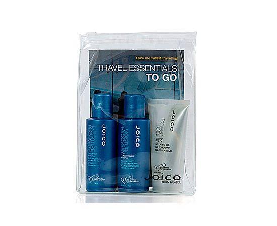 Дорожный набор JOICO: Шампунь, 50 мл + Кондиционер для сухих волос, 50 мл + Гель для укладки экстра сильной фиксации (10), 50 мл, фото 1